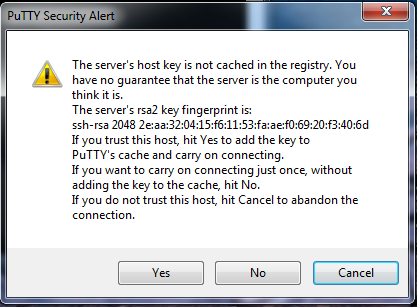 host key alert