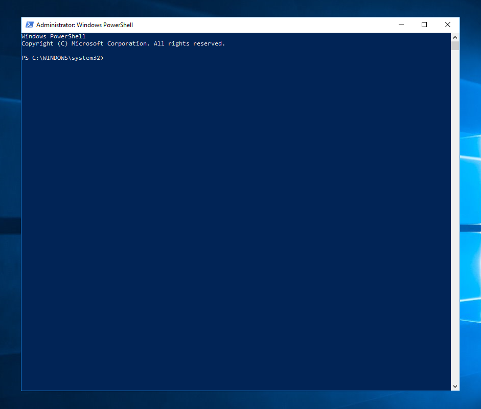 Windows10 !PowerShell
